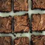 Cashew Butter Flourless Brownies