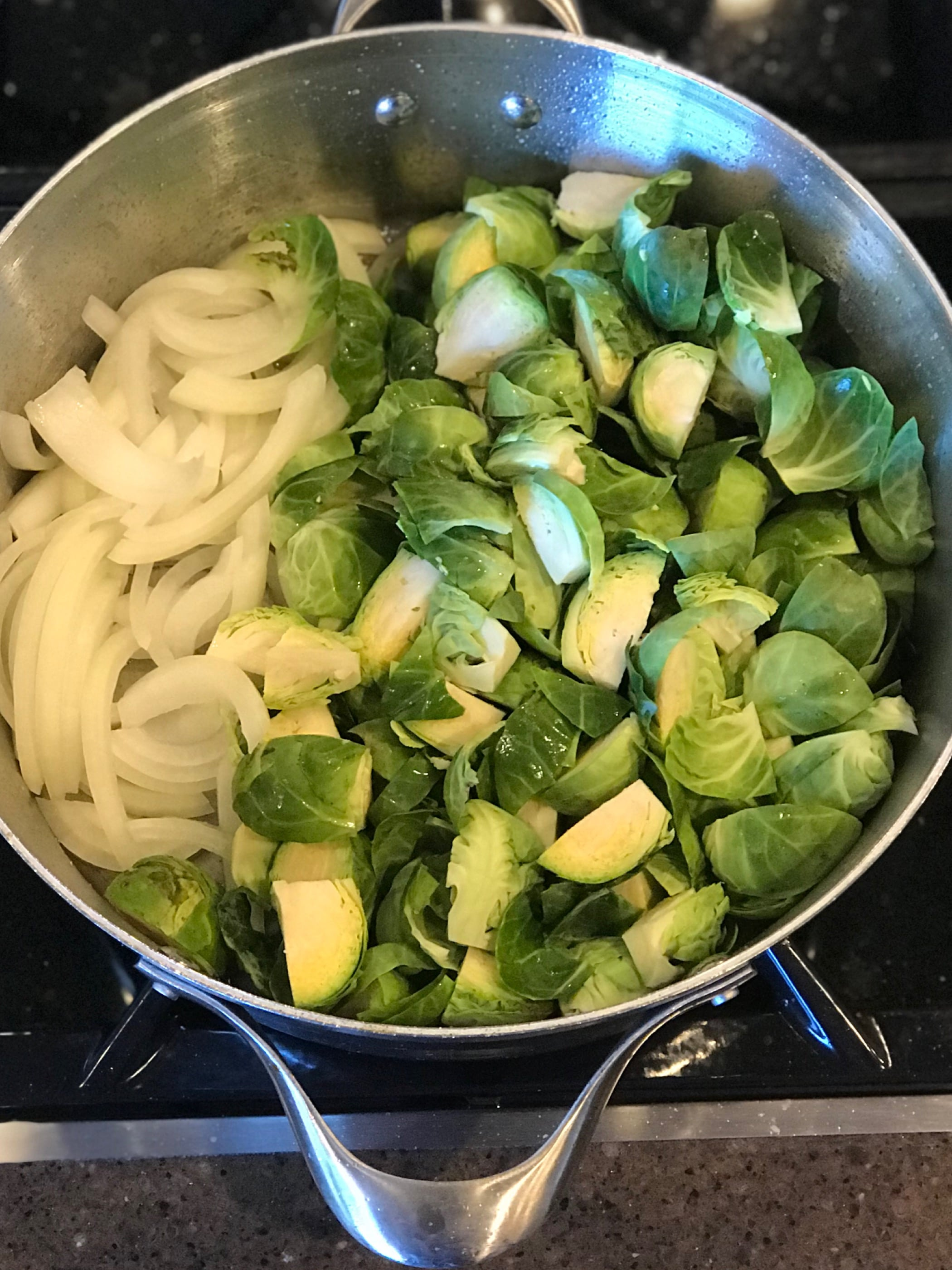 brussels sprouts & onions