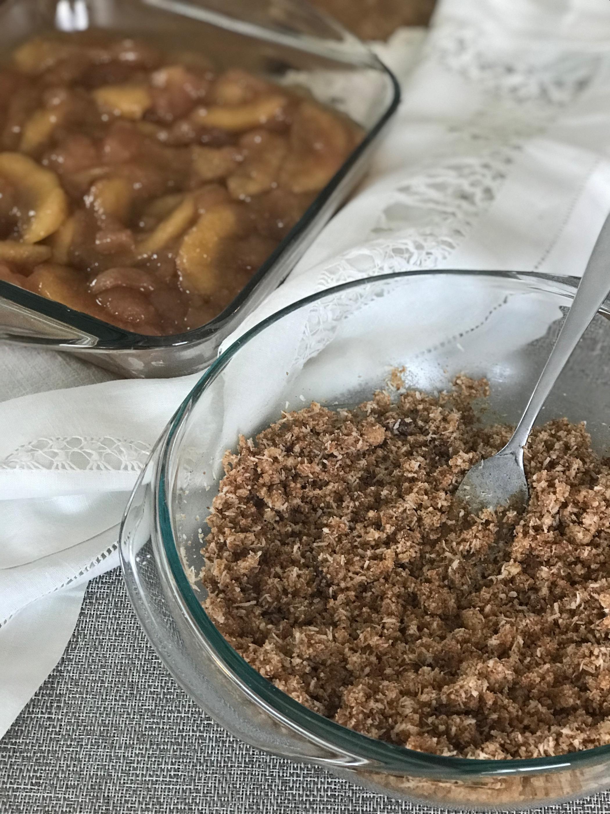 gluten free apple crisp topping