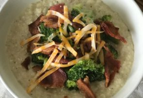 loaded crockpot potato soup