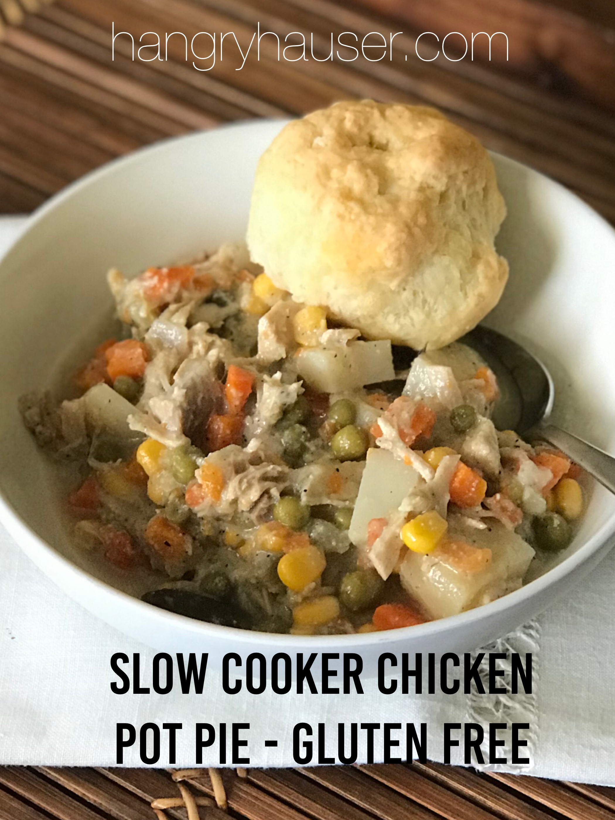slow cooker chicken pot pie - gluten free