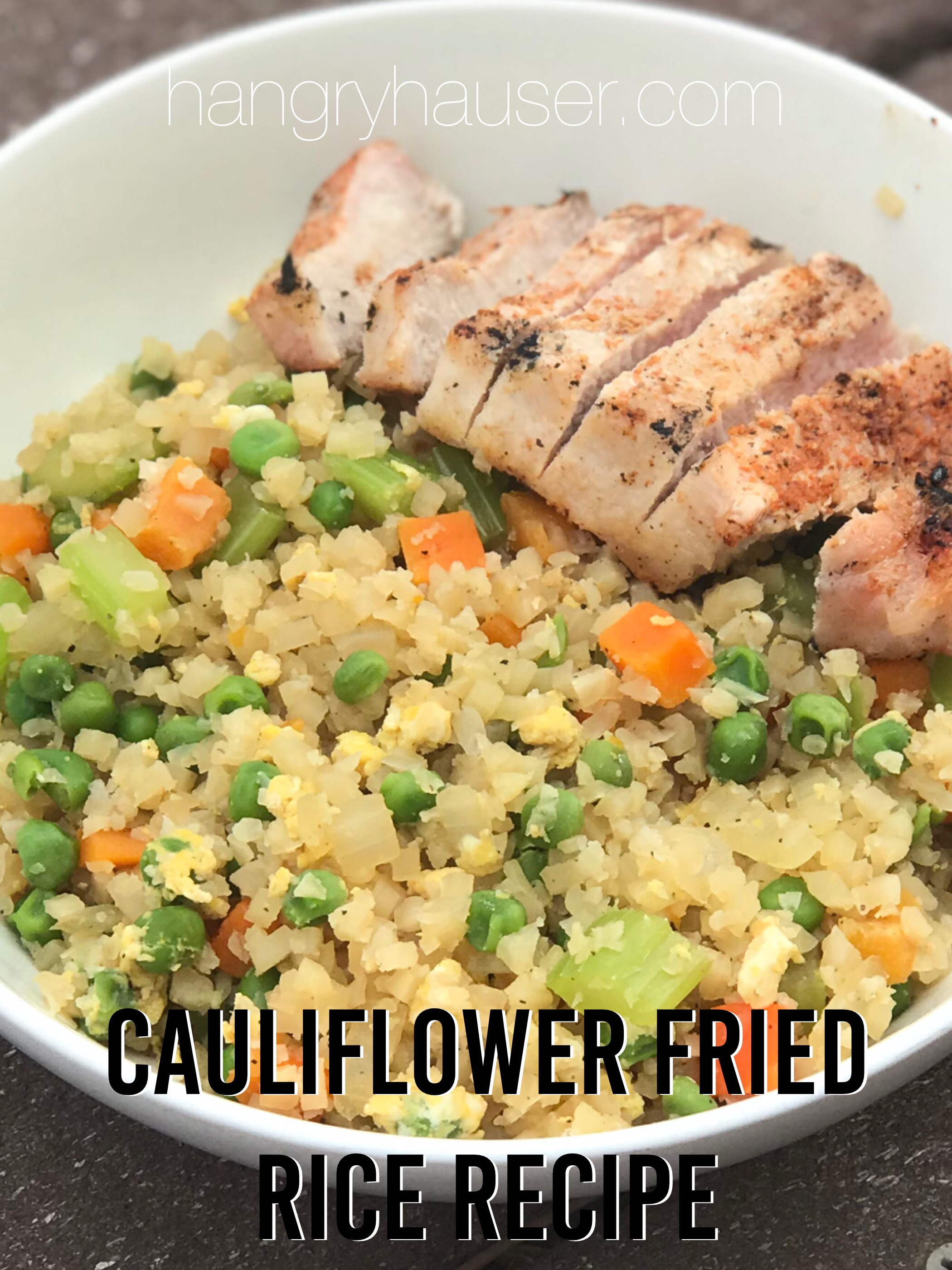 cauliflower fried rice recipe pinterest
