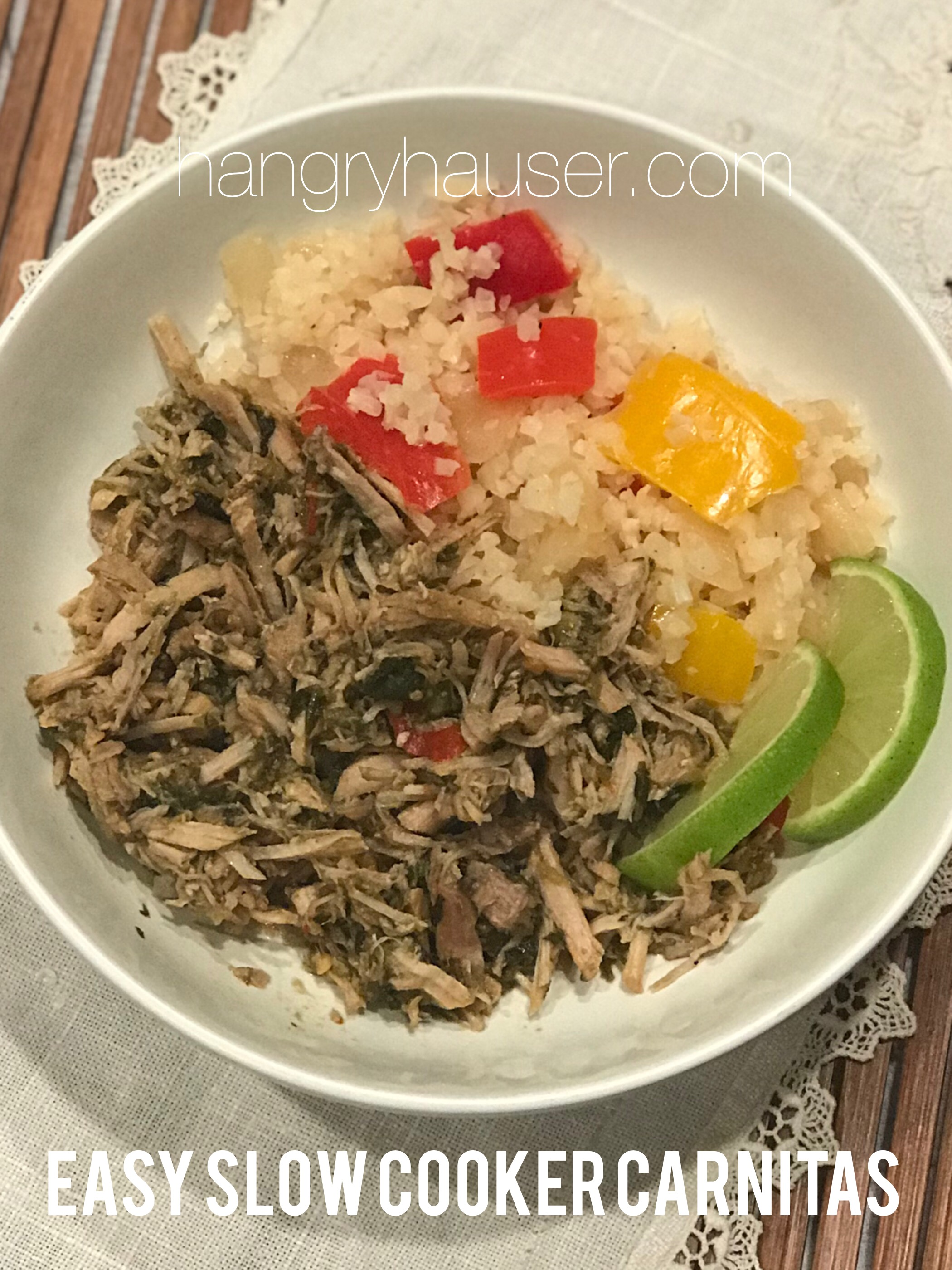 easy slow cooker carnitas pinterest
