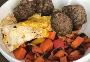 breakfast sausage meatballs