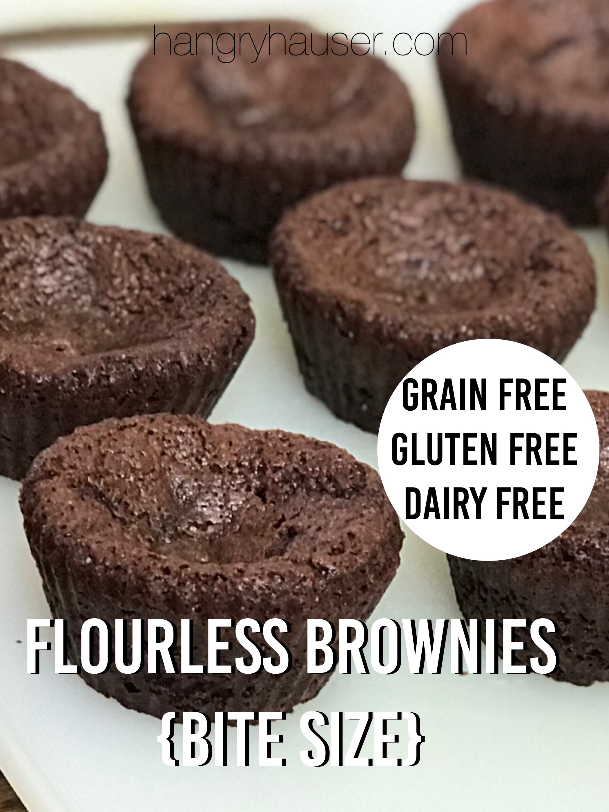 flourless brownies bite size