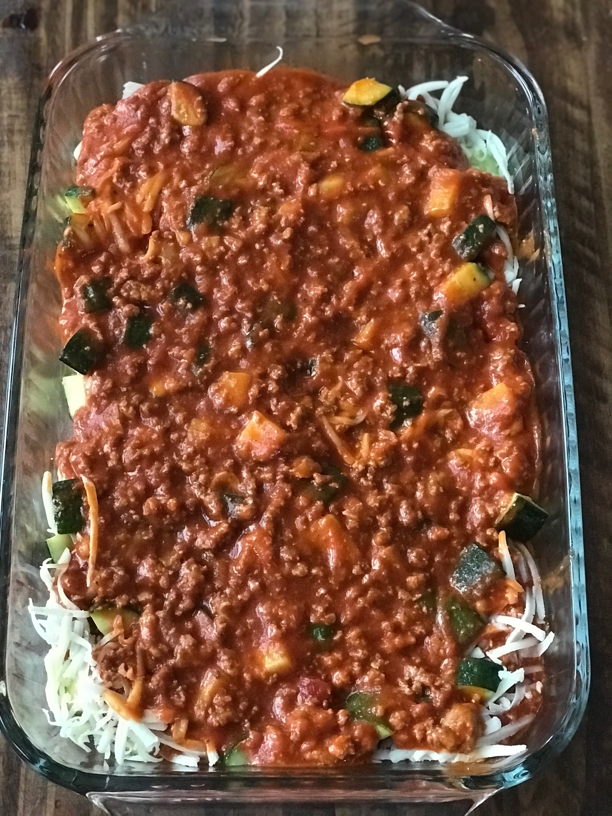 zucchini casserole with marinara