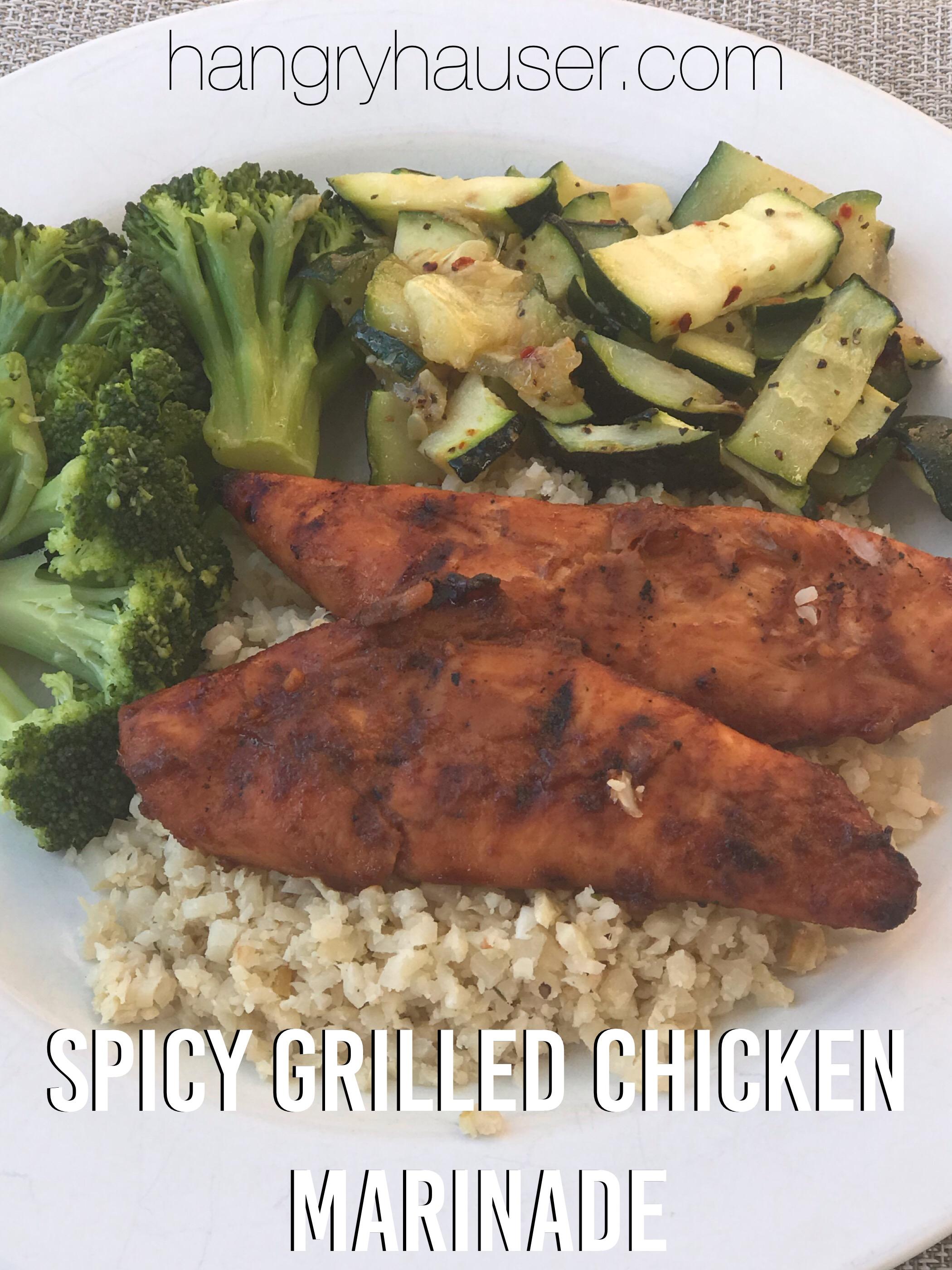Spicy Grilled Chicken Marinade